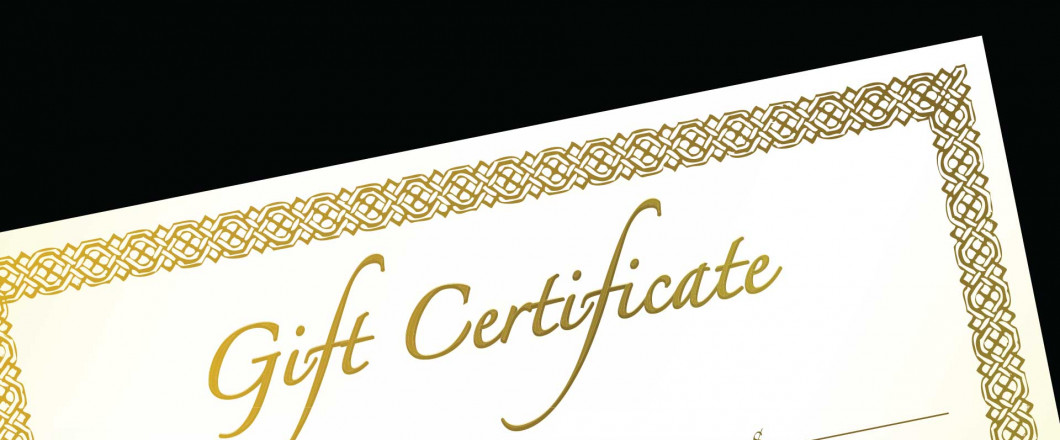 We Offer Gift Caring Certificates